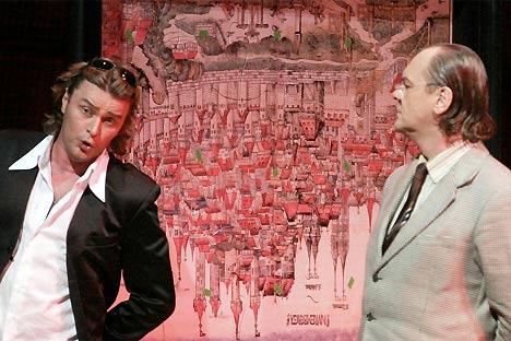 Vogt i Volle discutint d'art