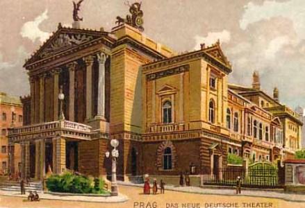 Neue Deutsche Theater  de Praga, en l'época de l'estrena de Tiefland