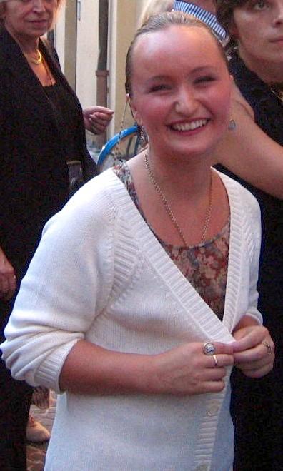 Julia Lezhneva a la sortida del Stabat Mater 20/09/2008 foto Ximo