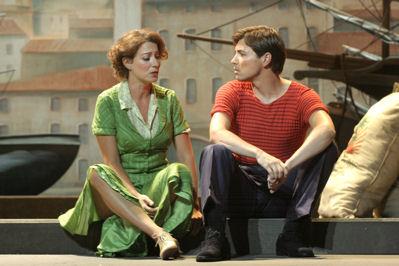 Sébastien Guéze (Marius) i Karen Vourc'h (Fanny)