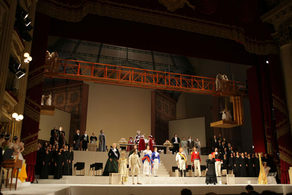 Final de la 1ª part Il Viaggio a Reims Scala 2009