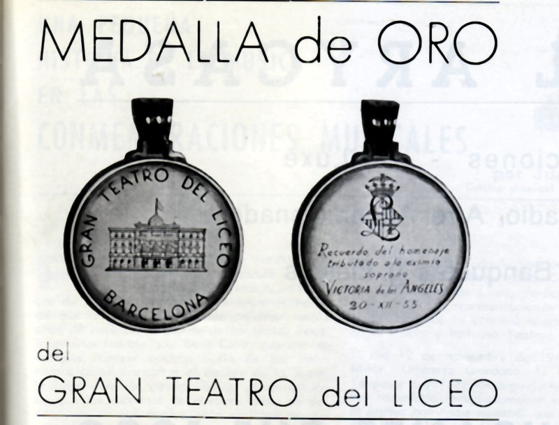 La medalla d'or del Liceu de Victória de los Ángeles
