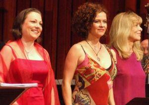 Dorothea Röschmann, Angelika Kichschlager i Hanna Schwarz en el concert del Barbican