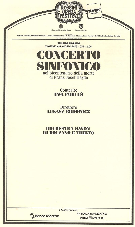 Concerto Sinfonico 16.08.2009