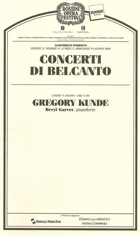 Recital Gregory Kunde Auditorium Pedrotti 17 d'agost de 2009