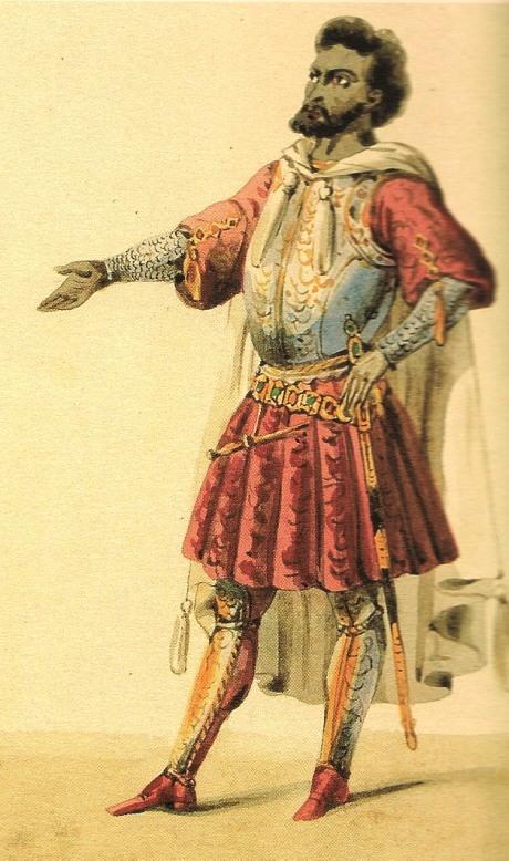 Gilbert Duprez com a Otello.