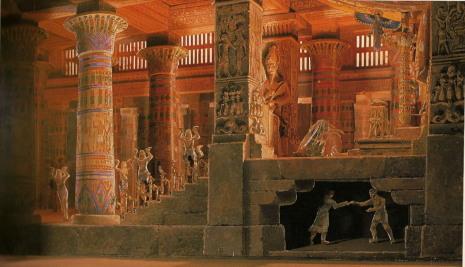 Aida acte 4at escena 2ª (escenografia de Mestres Cabanes)