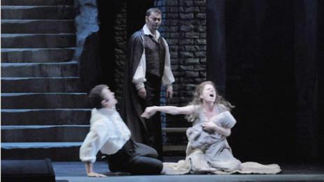 Piotr Beczala, René Pape i Ana María Martínez en el tercet final del Faust de Ch.Gounod a la Lyric Opera de Chicago 2009