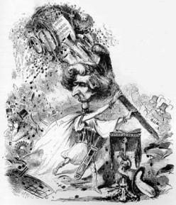 Hector Berlioz segons Artist: A. Grévin publicat al Journal amusant, 28 November 1863
