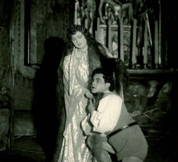 Escena de l'estrena de Das Wunder der Heliane amb Lotte Lehmann i Jan Kiepura a Viena (1927)