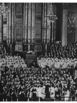 Primera interpretació de The Dream of Gerontius el 3 d'octubre de 1900 en el Birmingham Triennial Music Festival, sota la direcció de Hans Richter