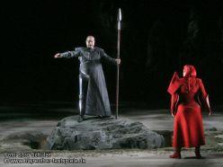 Wotan (Dohmen) i Brünnhilde (Watson) a Die Walküre a Bayreuth