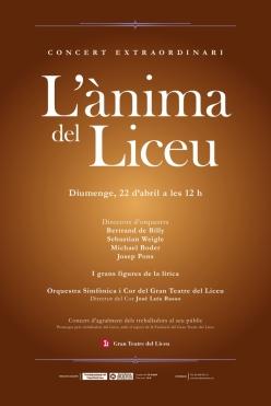 L'ànima del Liceu, Cartell de Lluís Palomar