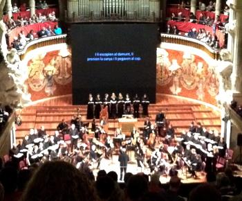 Palau 100 La Passió segons Sant Mateu del Collegium Vocale de Gent, direcció Philippe Herreweghe. Palau de la Música catalana 04/04/2012 Foto gentilesa de Celeste