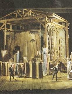 Esbós escenogràfic de l'acte 1er d'Adriana Lecouvreur. Charles Edwards. Producció David McVicar