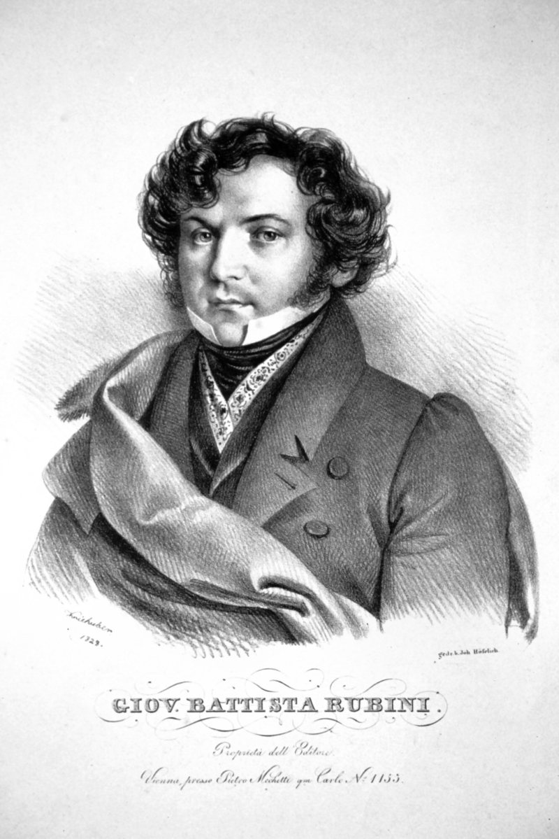 Giovanni Battista Rubini (1794-1854) Litografia de Josef Kriehuber, 1828