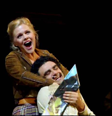 Miah Persson i Rolando Villazón a L'elisir d'amore a Baden Baden 2012, producció de Rolando Villazón.