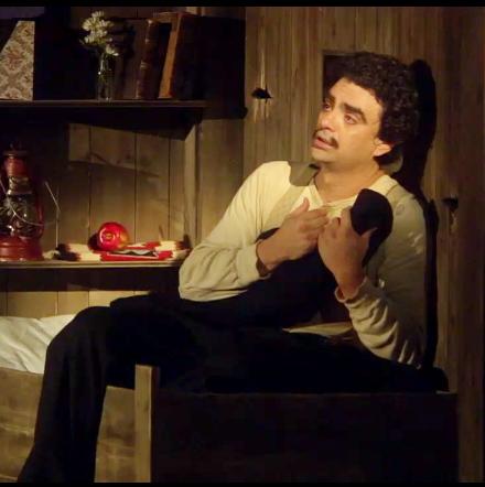 Rolando Villazón (Nemorino) a L'Elisir d'Amore a Baden Baden 2012. Producció de Roalndo Villazón
