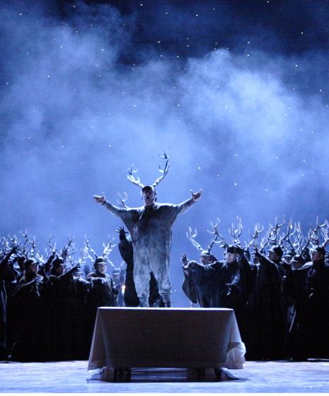 Falstaff, acte 3er escena 2ª, producció de Robert Carsen