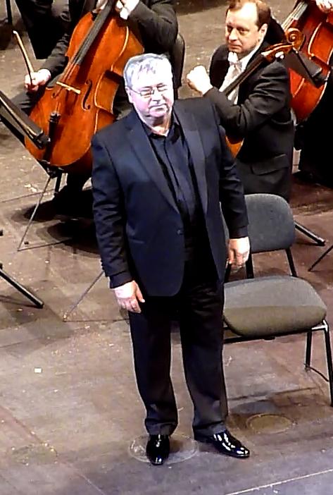 Sergei Aleksashkin (el Rei René) al Liceu 10 de gener de 2013. Fotografia gentilesa de Josep (El cafè de nit)