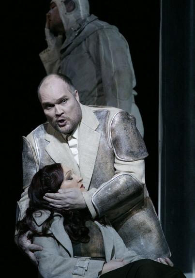Milling (Gurnemanz) i Schuster (Kundry) al Parsifal de Salzburg 2013. Foto: Forster