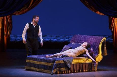 David Daniels i Natalie Dessay al segon acte de Giulio Cesare al MET, producció de David McVicar