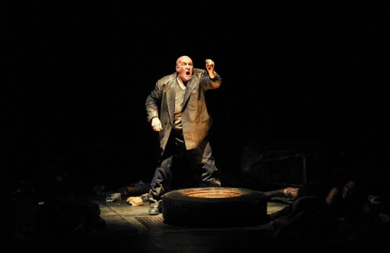 Andrew Shore, ALberich a Das Rheingold al Liceu. Foto Bofill