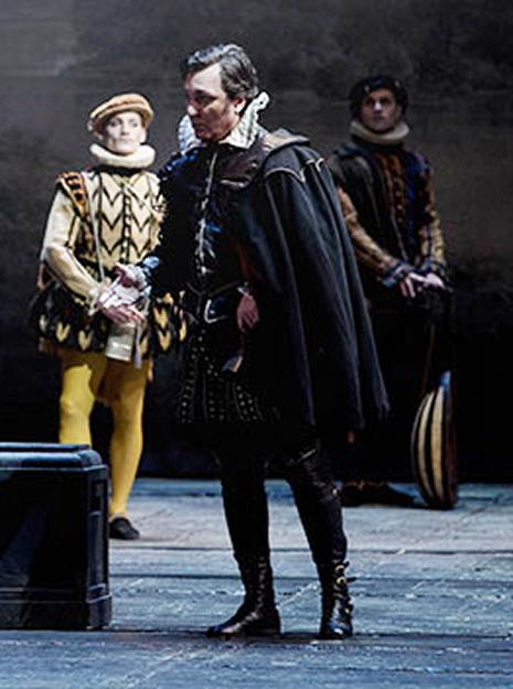 Ludovic Tézier, Rodrigo al Don Carlo del Teatro Regio de Torí, producció de Hugo de Anna. Foto Teatro Regio