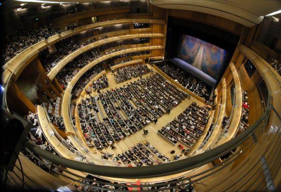La sala del nou Mariinski de Sant Petersburg,  / DMITRY LOVETSKY (AP)