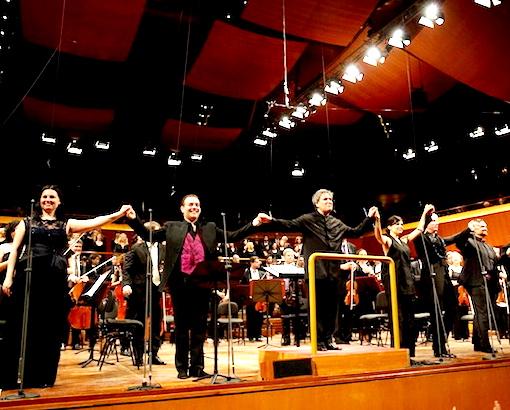 Monastryrska, Meli, Pappano, Giordano, Hvorostowsky. Foto ©Musacchio & Ianniello