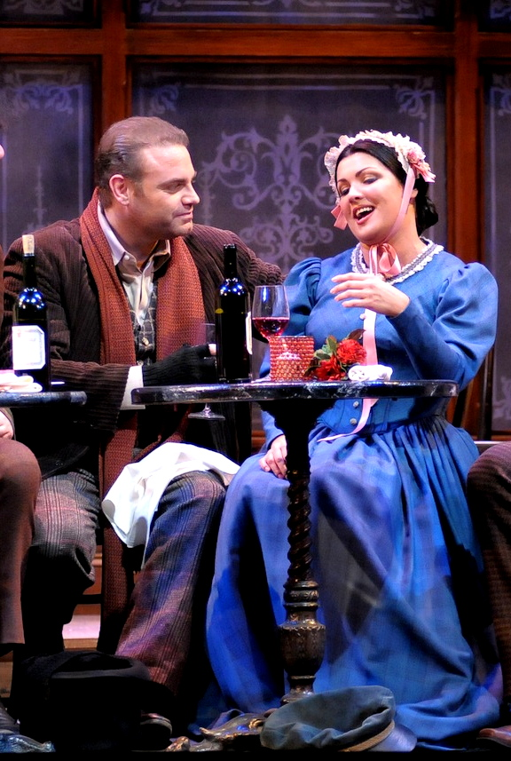 Joseph Calleja i Anna Netrebko a La Bohème. Lyric Opera de Chicago 2013 Foto Dan Rest