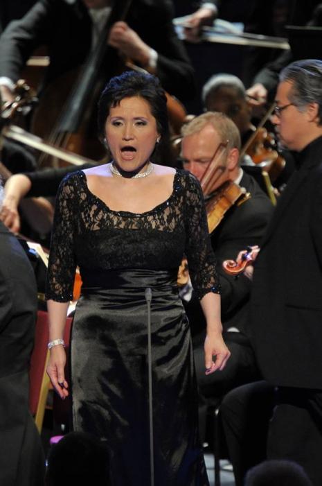 Mihoko Fujimura (Brangäne) als Proms del 27 de juliol de 2013 Foto BBC/Chris Christodoulou