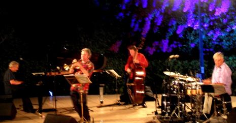 Manle Camp Quartet, 22 de juliol de 2013 a l'amfiteatre de la Fundació Antiga Caixa Sabadell 1859. Foto IFL