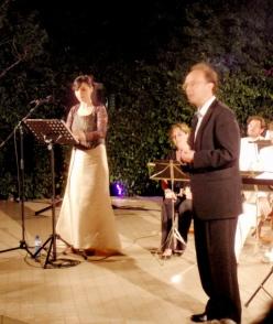 Marta Valero i Bernat Castillejo a l'Amfiteatre de la Fundació Antiga Caixa Sabadell 1859 el 4 de juliol de 2013 XIV Festival Internacional de Música de Sabadell