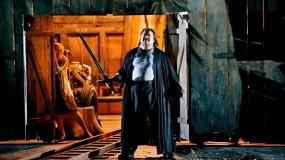Die Walküre, acte 1er Johan Botha (Siegmund) Anja Kampe (Sieglinde), Producció de Frank Castorf Fotografia Enrico Nawrath