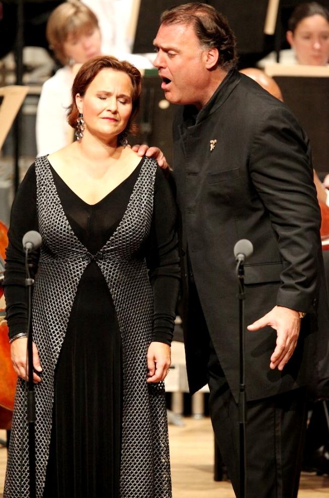 Katarina Dalayman (Brünnhilde) i Bryn Terfel (Wotan) a Tanglewood el 20 de juliol de 2013. Fotografia: Hilary-Scott
