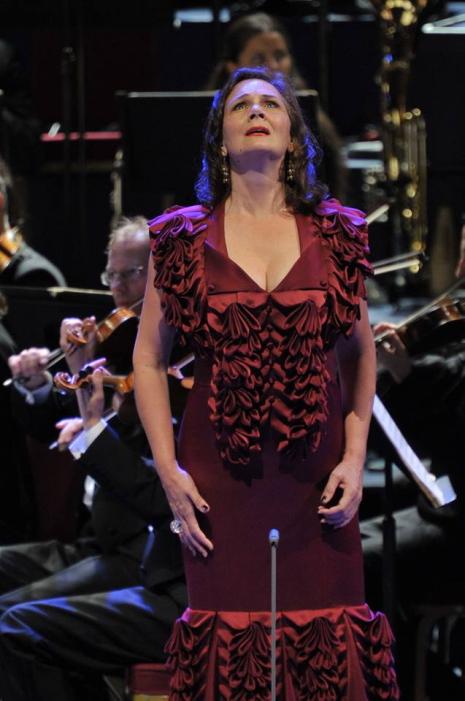 Anna Larsson (Erda) al Siegfried del 26 de juliol de 2013 al RAH de Londres. Foto BBC/Chris Christodoulou