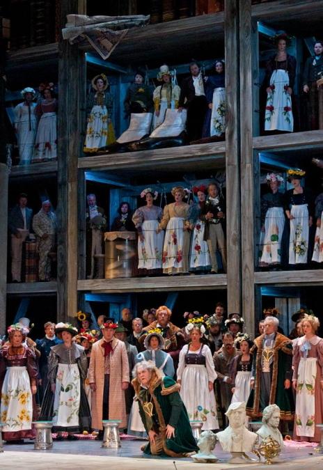 Die Meistersinger von Nürnberg. Salzburg 2013 Producció del Stefan Herheim. Foto  gentilesa del Salzburger Festspiele