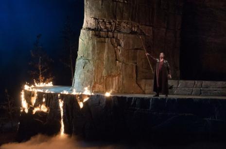GREER GRIMSLEY (Wotan) al tercer acte de Die Walkúre, producció de Stephen Wadsworth  per a l'òpera de Seattle.