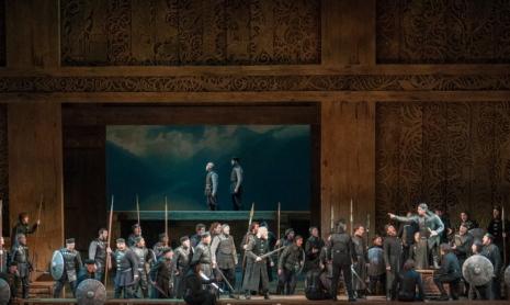 Götterdämmerung acte 3er, producció de Stephen Wadsworth per a l'òpera de Seattle.