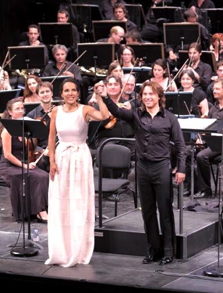 Béatrice Uria Monzón i Roberto Alagna a l'Òpera de Marsella, juliol de 2013 Les Troyens