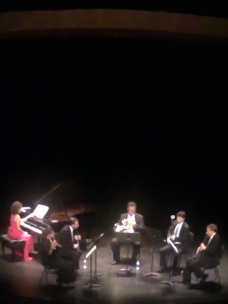 Rosalía López, Isabel Moreno, Ricardo Ríos, Arturo Nogués, Pau Solà i Oscar Diago al Teatre Principal de Sabadell el 18 d'octubre de 2013.