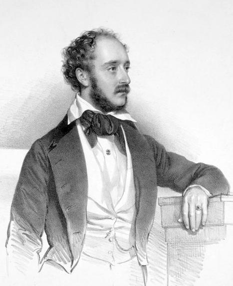 Lorenzo Salvi (1813-1879) el primer tenor verdià ja que va ser el que va estrenar el rol de Riccardo, conte di Salvatierra a l?oberto conte di San Bonifacio, pintat per Joseph Kriehuber (1800-1876).