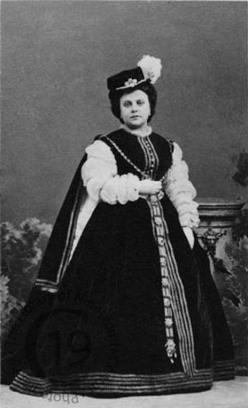 Pauline Guéymard-Lauters la primera Princesa d'Eboli a l'estrena de l'òpera de Paris.