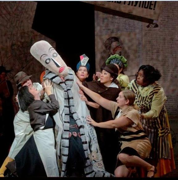 El Nas de Dmitri Xostakòvitx, producció de William Kentridge. Fotografia Ken Howard