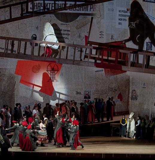 El Nas, acte 3er, producció de William Kentridge MET. Foto Ken Howard