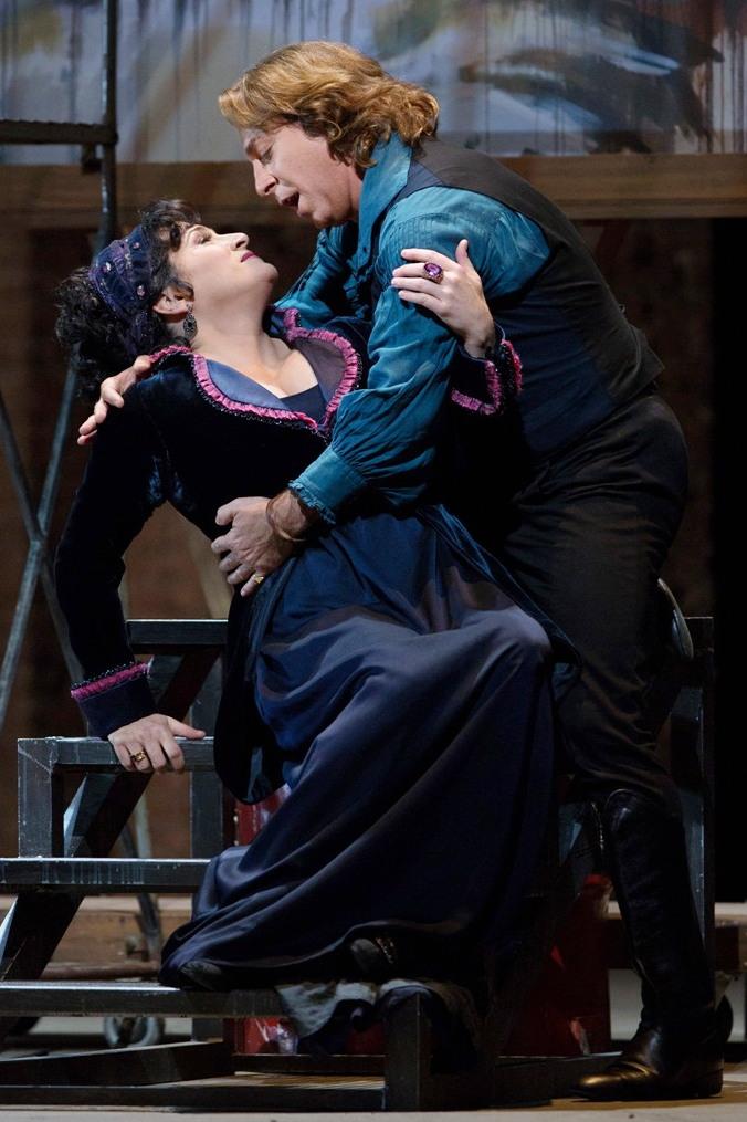 Patricia Racette (Tosca) i Rodolfo Alagna (Cavaradossi) a la Tosca del MET. Foto Ken Howard/MET