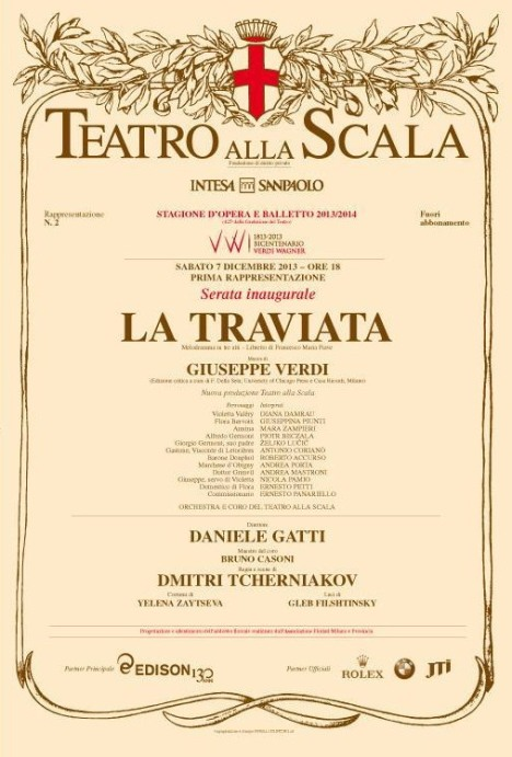 Cartellone Traviata 2013