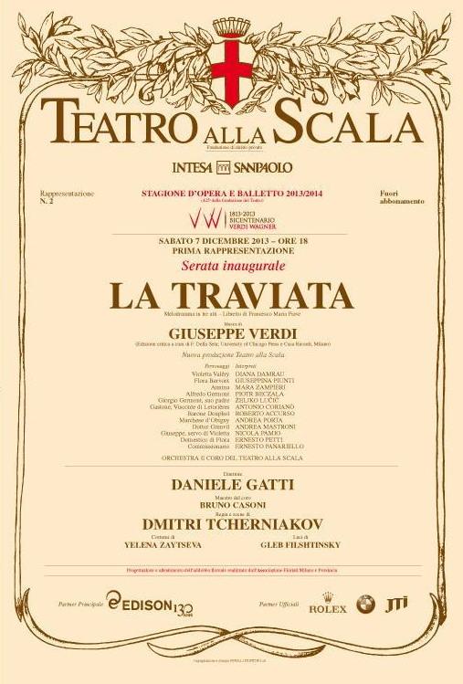 Cartellone Traviata 2013