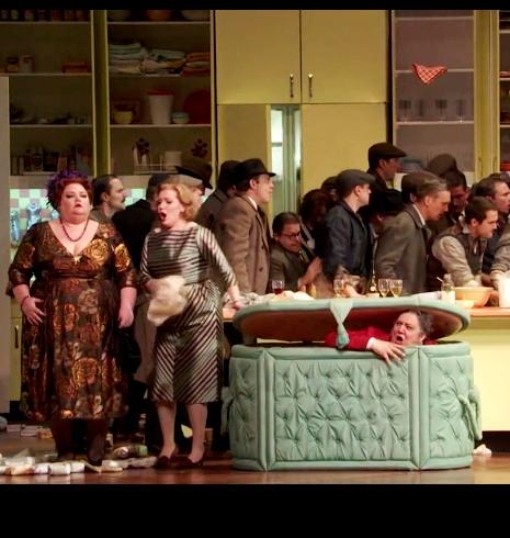 Falstaff al MET, acte 2 escena 2, producció de Robert Carsen